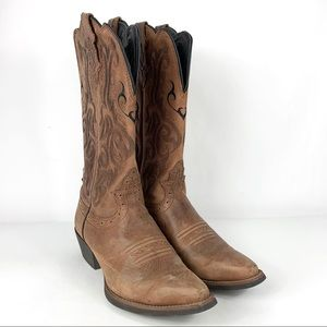 Justin Boots Leather Western Boots Size 6.5 B